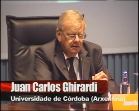 Juan Carlos Ghirardi, maxistrado e catedrático de Dereito Romano da Universidade Católica de Córdoba, Arxentina.